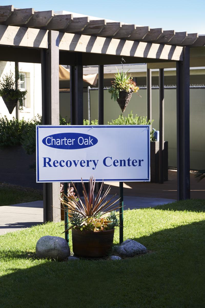 Charter Oak Recovery Center  Entrance Sign