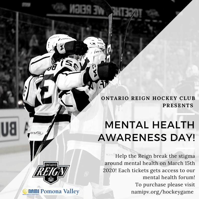 Ontario Reign NAMI Mental Health Awareness Event