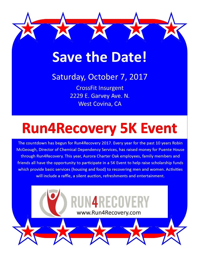 #Run4Recovery2017 flyer