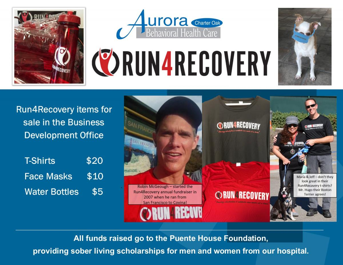 Run4Recovery Merchandise For Sale