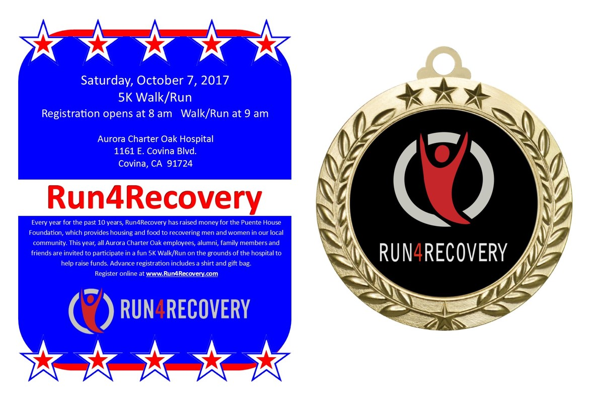Run4Recovery flyer and medallion